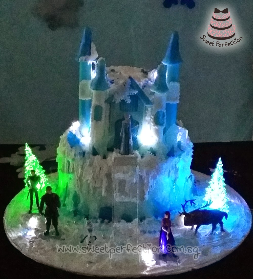 Sweet Perfection Cakes Gallery F24 2 Tier Frozen Castle Cake with