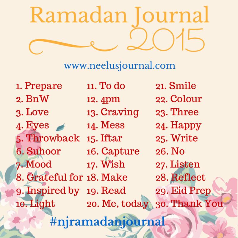 Ramadan Journal 2015