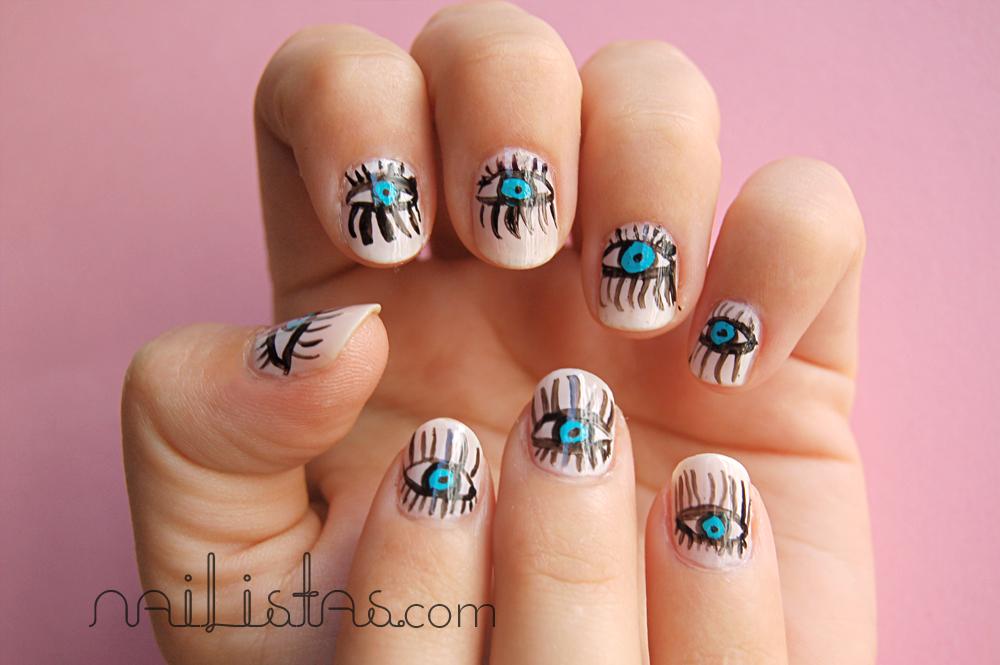 Las uñas tienen ojos // Eyes in your nails - Nailistas | Uñas ...