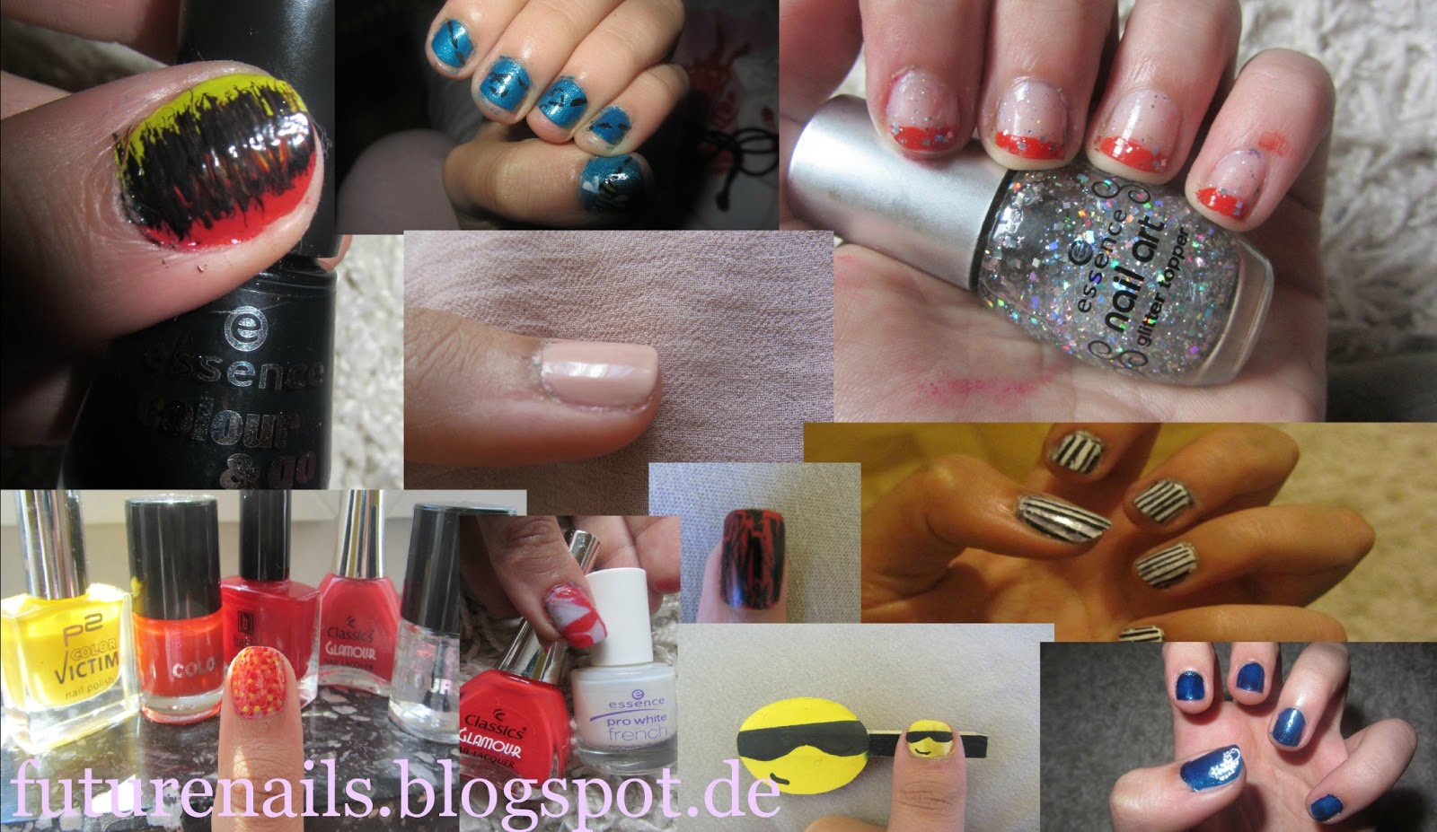 Nageldesign selber machen kurze n gel for Nagellack ideen