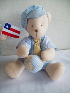 ursinhos para enfeitar quarto de bebê, azul e bege