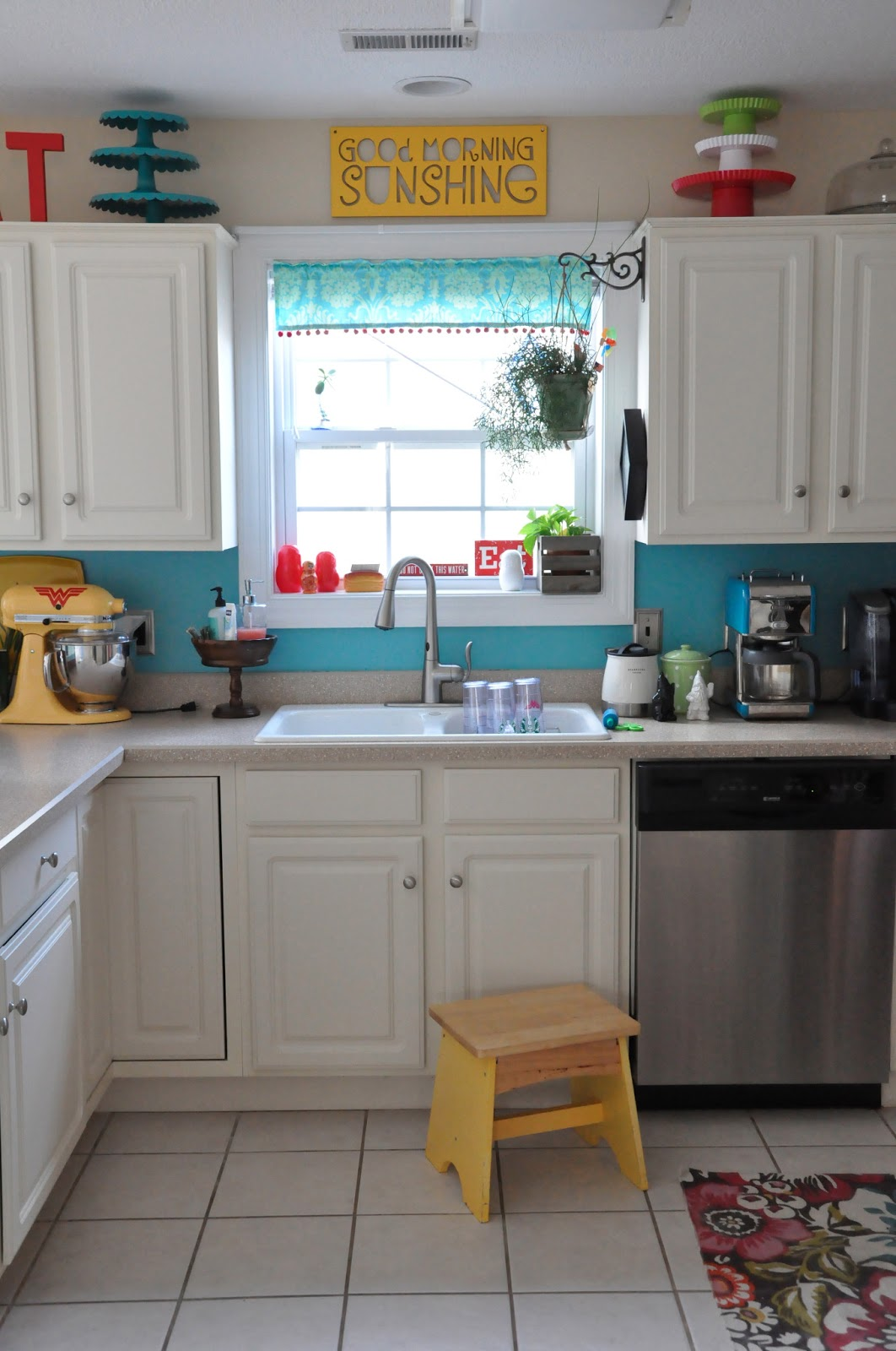 Little bit funky moen review and a chance to win 100 for Kitchen ideas turquoise