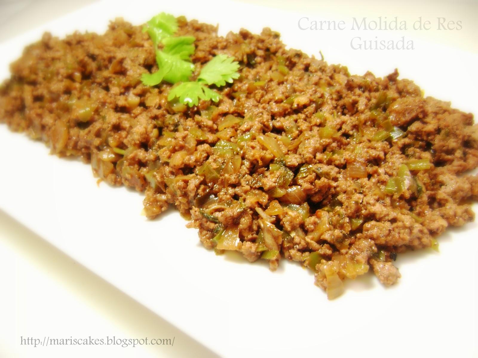 Ground Beef, Picadillo de Res | Mari's Cakes (English)
