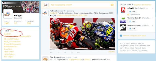 Rossi Marquez Guncang Twitter dengan Hashtag #MotoGP