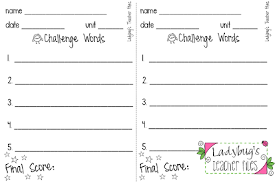 Spelling Test Template 20 Words 30321 – Spelling Test Template