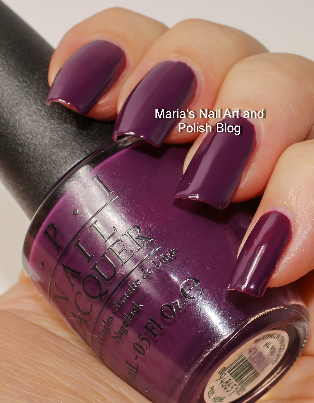 Skating On Thin Iceland Is A Beautiful Eggplant Purple Cream I Love This Shade You See Two Easy Coats No Top Coat