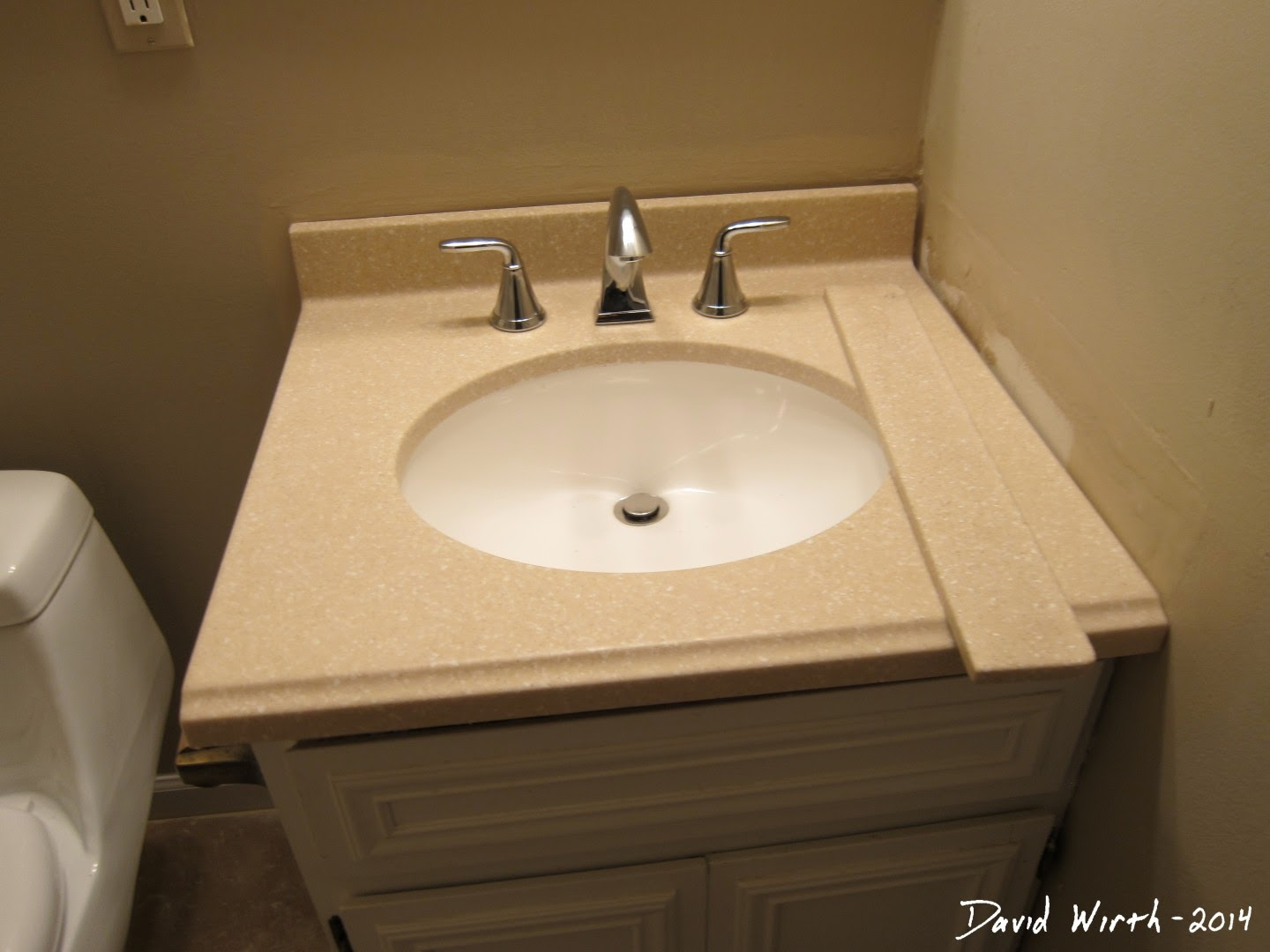 how to install sink backsplash, caulk