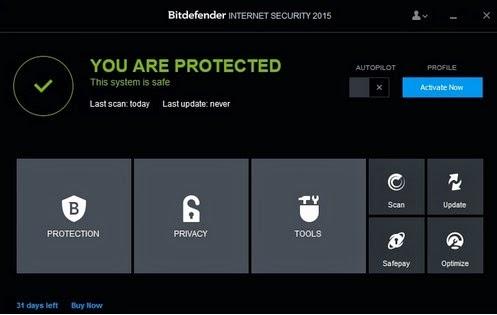 Bitdefender mempunyai banyak fitur