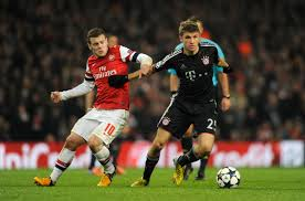 Arsenal - Bayern de Munich disputando un partido en el Emirates Stadium