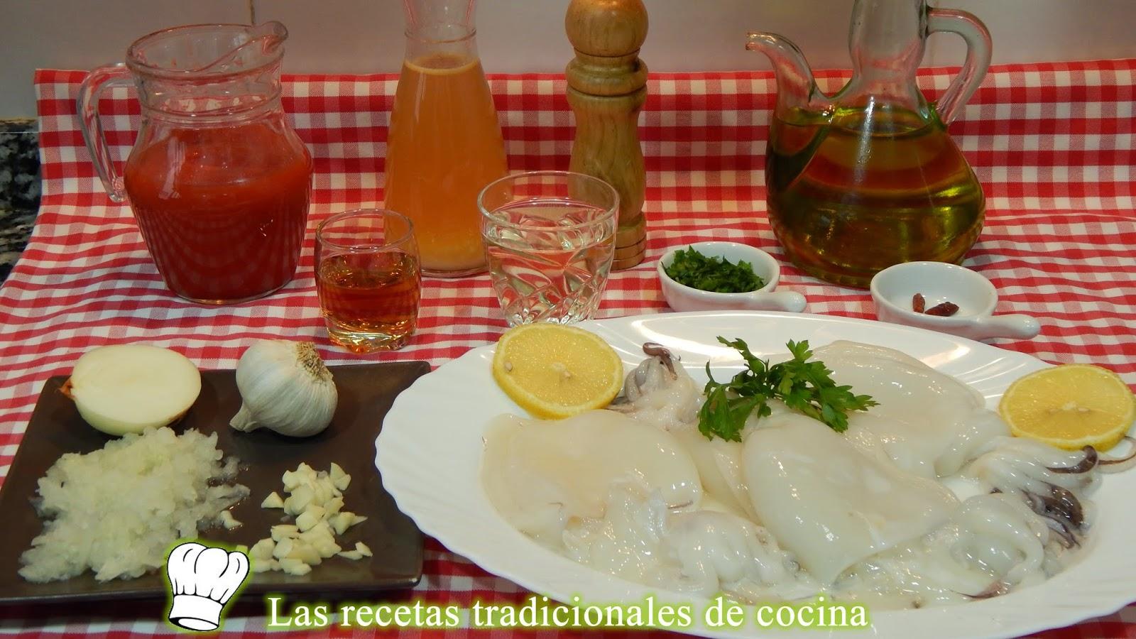 Receta de sepia en salsa Americana