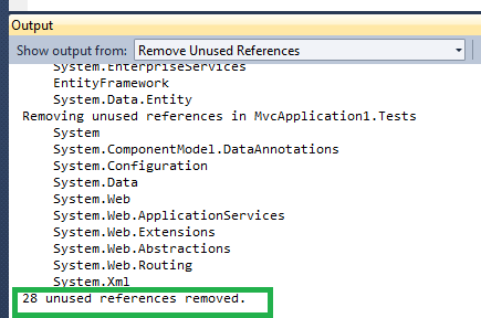 How to Remove unused references from C sharp projects in Visual Studio