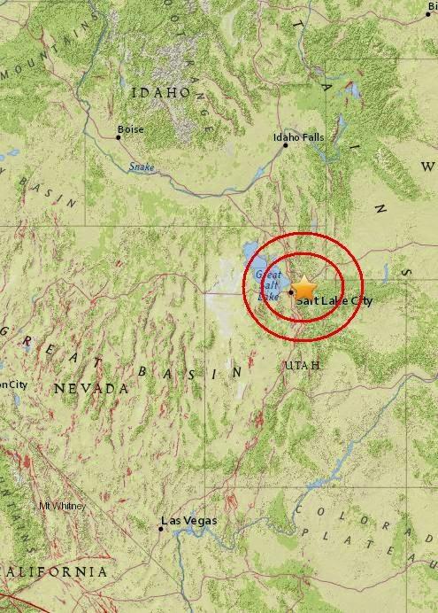 Magnitude 3.0 Earthquake of Summit Park, Utah 2015-05-09