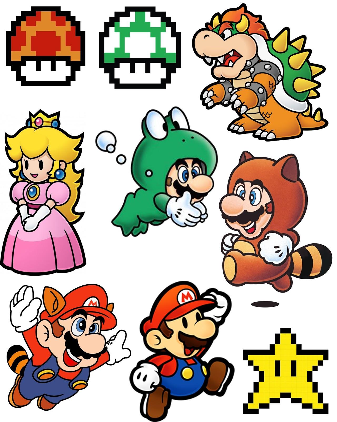 Doodlecraft Super Mario Brothers Shrinky Dink Necklace for Video – Super Mario Bros Valentine Cards