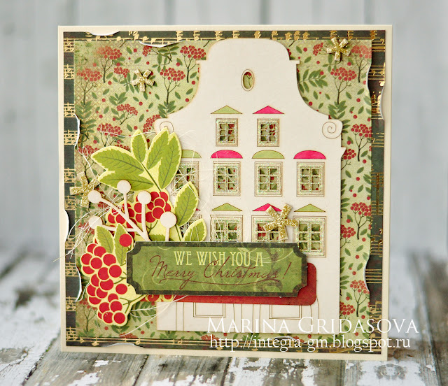 Christmas card for Kaisercraft challenge @akonitt #card #by_marina_gridasova