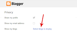 How to Show or Hide a Blogger Blog on Your Profile