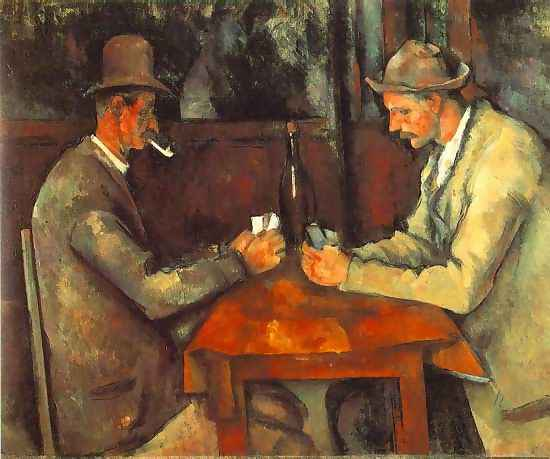 Paul Cezanne's 'The Card Players' painting