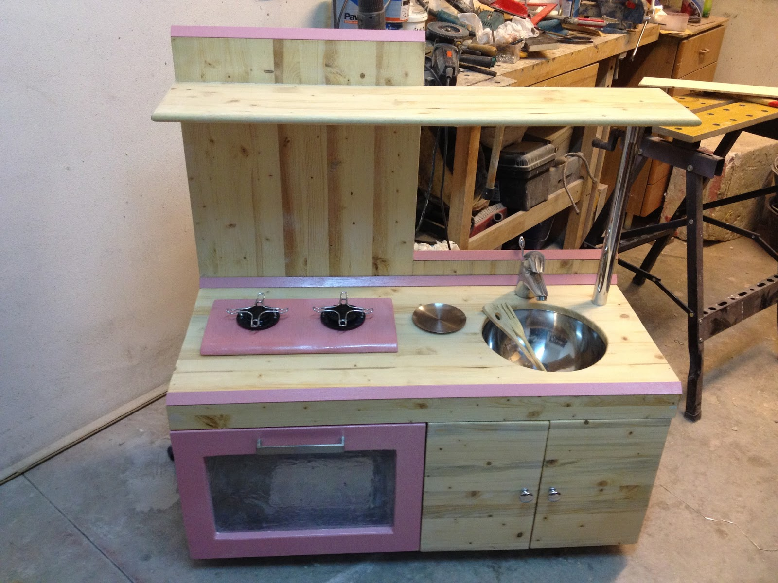 Mammarum come costruire una cucina per bambini di legno - Cucine bimbe giocattoli ...