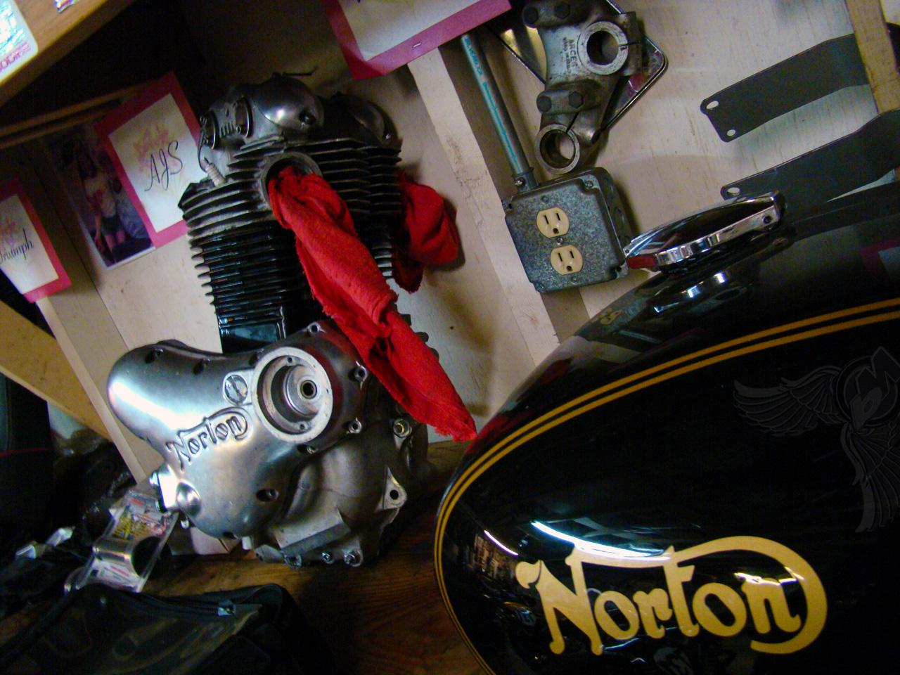 Stan Keyes From Cyco Cycle At His Home Garage Bikermetric