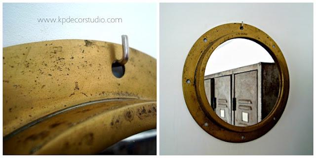 Objetos y artículos de barco para decoración. Espejos vintage originales