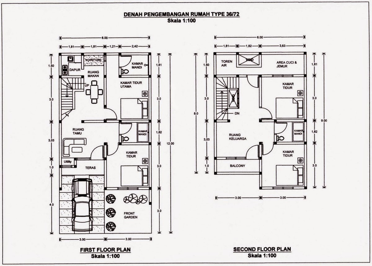 Desain Rumah Minimalis 2 Lantai Type 60 Foto Desain Rumah
