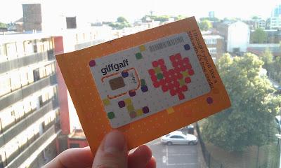 Tarjeta SIM gratis con GiffGaff