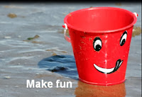 Intention #12 - Make Fun and Laughing a Bigger Part of My Life - bucket on the beach