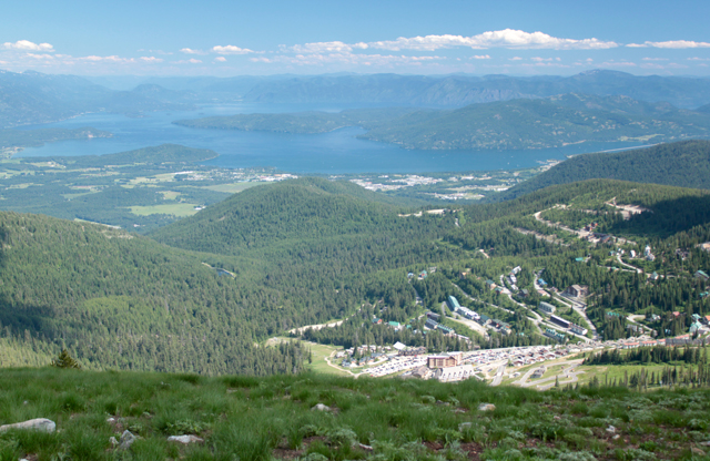 Lake Pend Oreille view from Schweitzer