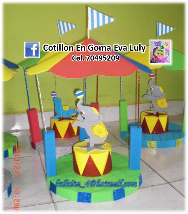 Carpa de circo en goma eva - Imagui