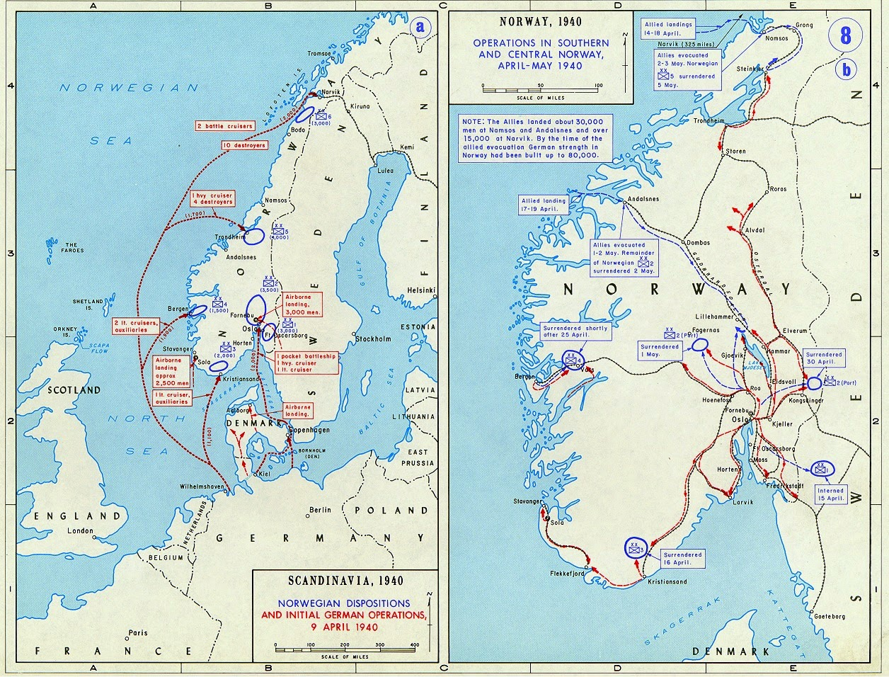 norwegian campaign map april may 1940 found at https historicalresources files wordpress com 2008 09 norway jpg