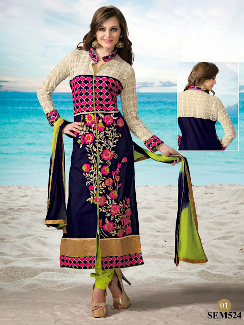 New Arrival Cambric Cotton Embroidery Long Salwar Kameez