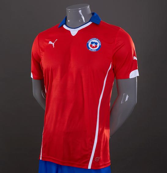Bakul Jersey Grade Ori Piala DUnia 2014 Chile Home