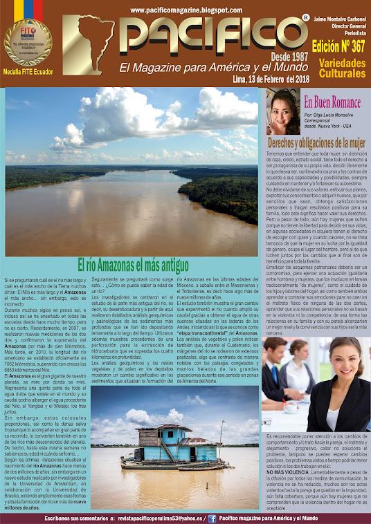 Revista Pacífico Nº 367 Variedades culturales