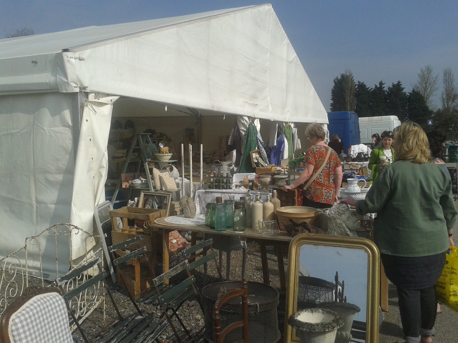 Newark Antiques and Collectors Fair - our Textile Tent on Eastwood Way
