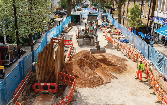 Chippenham Road works