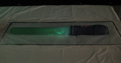 Star Wars 3D Lightsaber Cake - Lightsaber Lit Up
