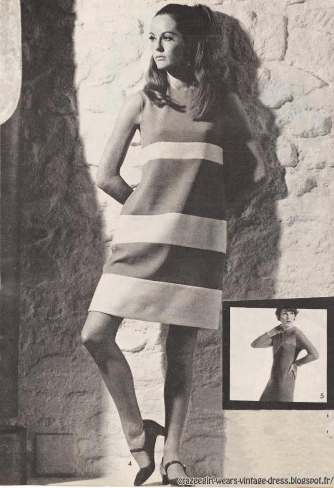 dress 1967 stripe striped 60s 1960