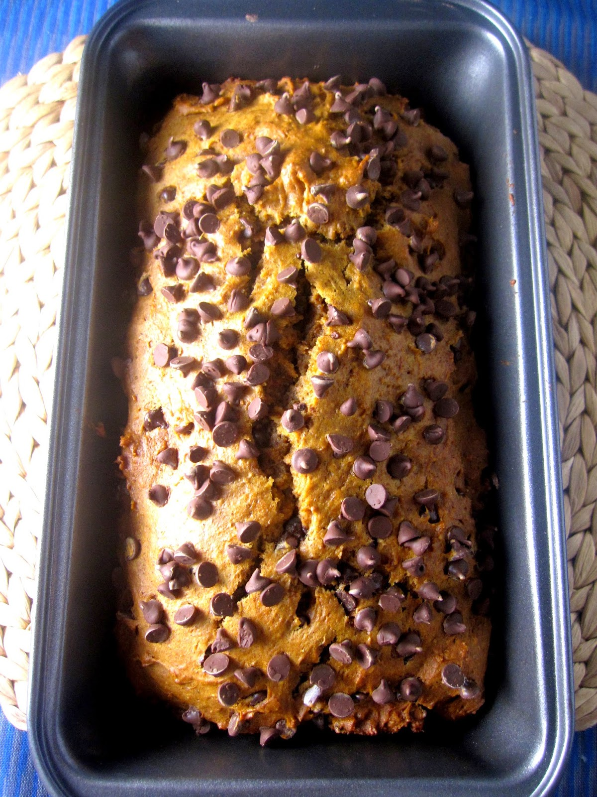 Chocolate Chip Peanut Butter Pumpkin Bread