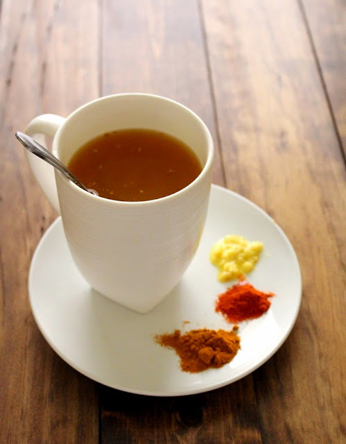 Slimming remedy with pepper Cayenne, green tea and lemon