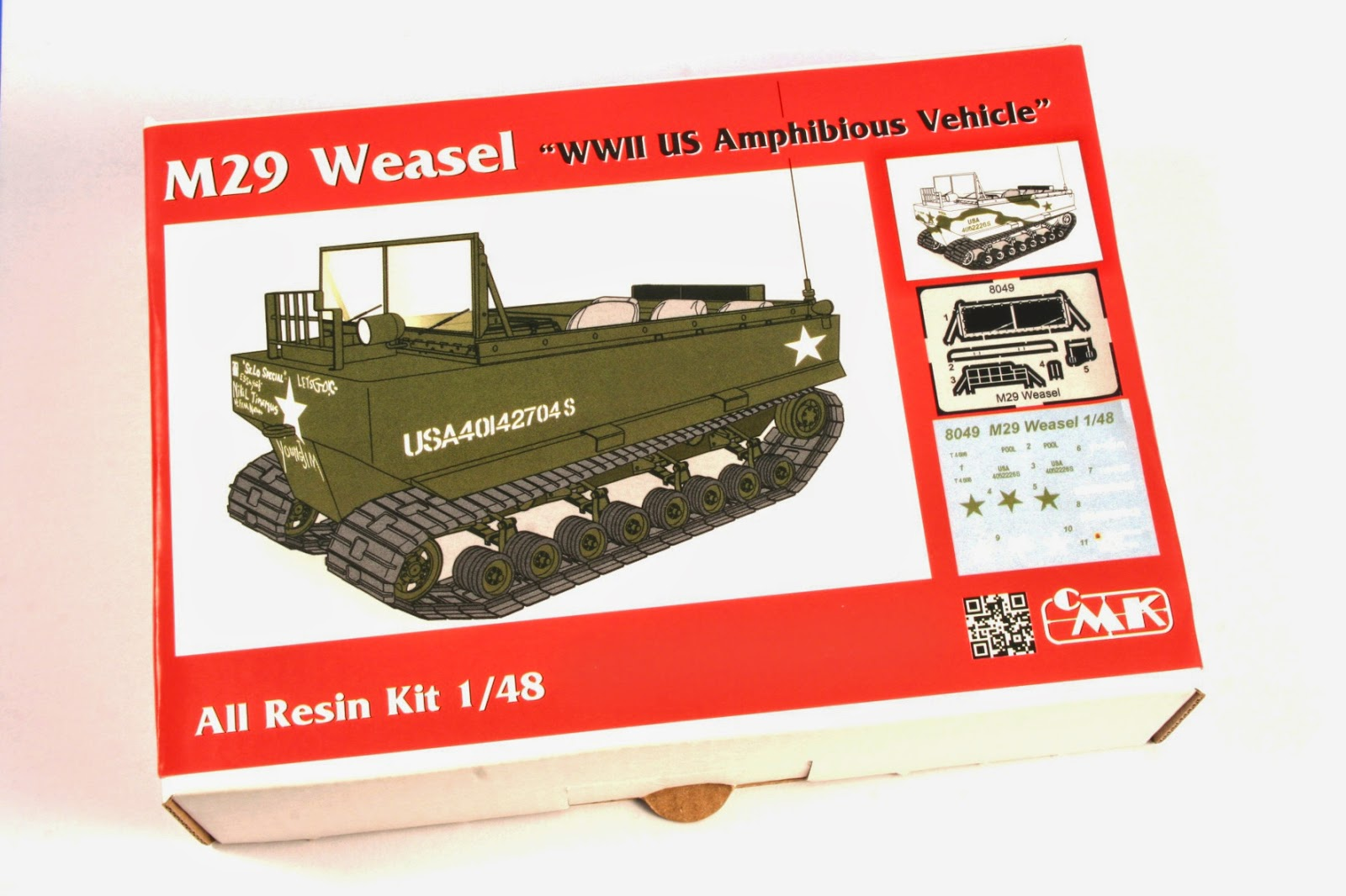 special hobby en m29 weasel cmk resin kit no 8049 in 1 48 unveiled piece of wire slight shape correction of the seats and a glass added to both of the lights tamiya paints were used and also mig weathering products