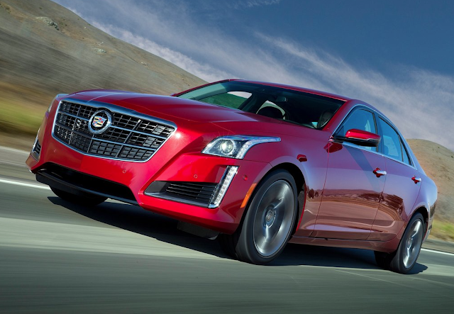 2014 Cadillac CTS red