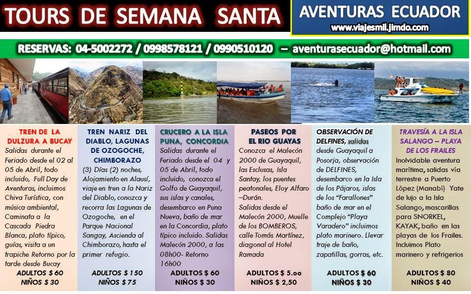 TOURS  DE  SEMANA SANTA 2015