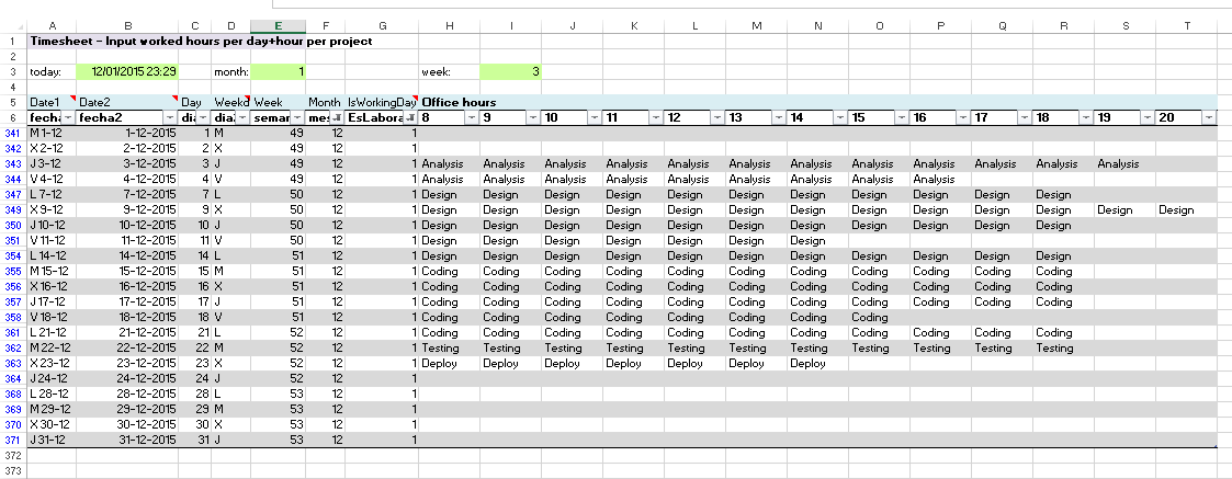 Excel examples for your work sports and more timesheet for Table 6 hours