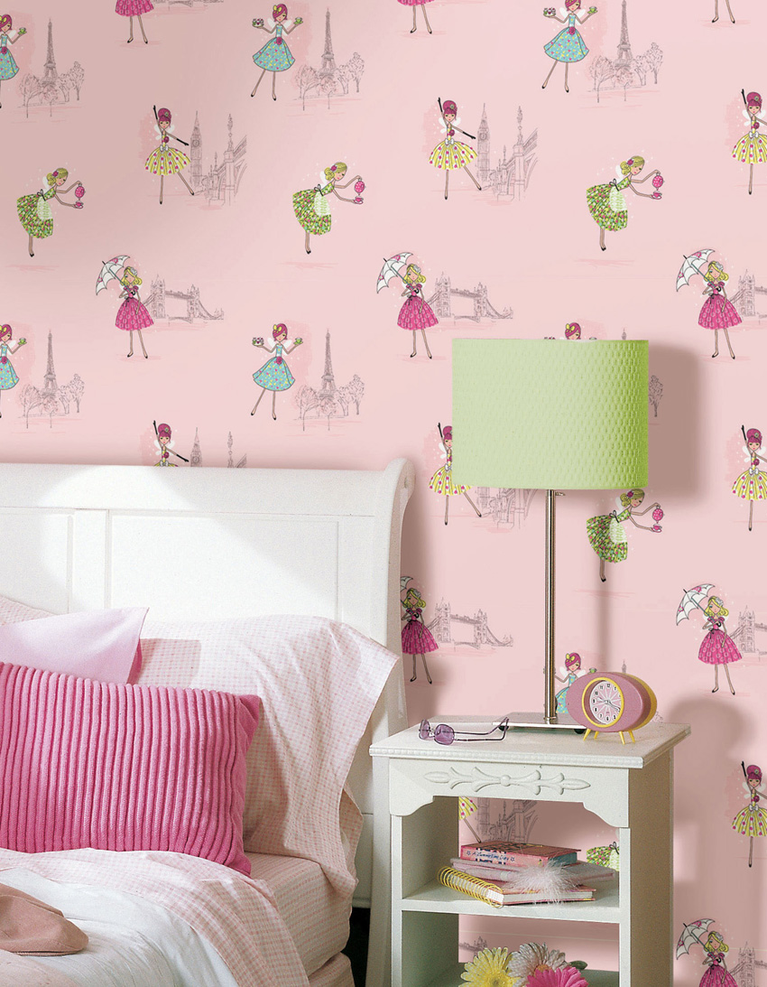 Papel pintado papel pintado infantil hoopla - Papel pintado para habitacion nina ...