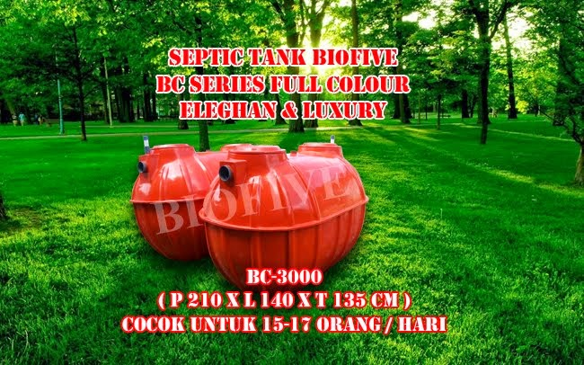 NEW 1 SEPTIC TANK BIOFIVE BC-SERIES ( ORANGE )