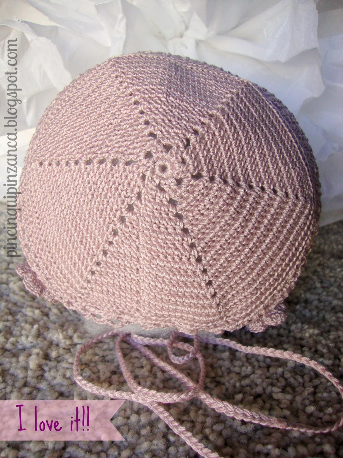 Pincinqui Pinzanca: Capota de ganchillo (crochet baby beanie hat)