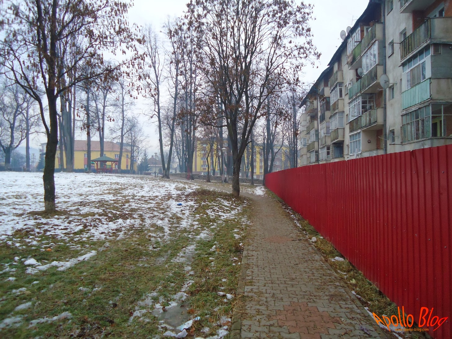 Toplita, Parcul Eroilor Iarna