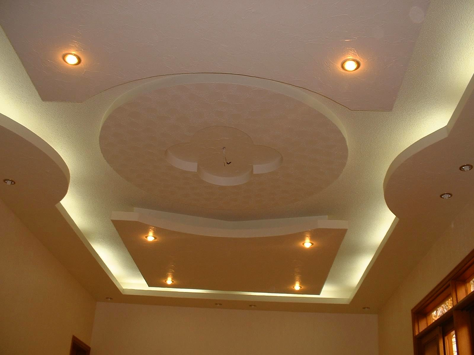 20 modern false ceiling designs made of gypsum board - Lights used in false ceiling ...