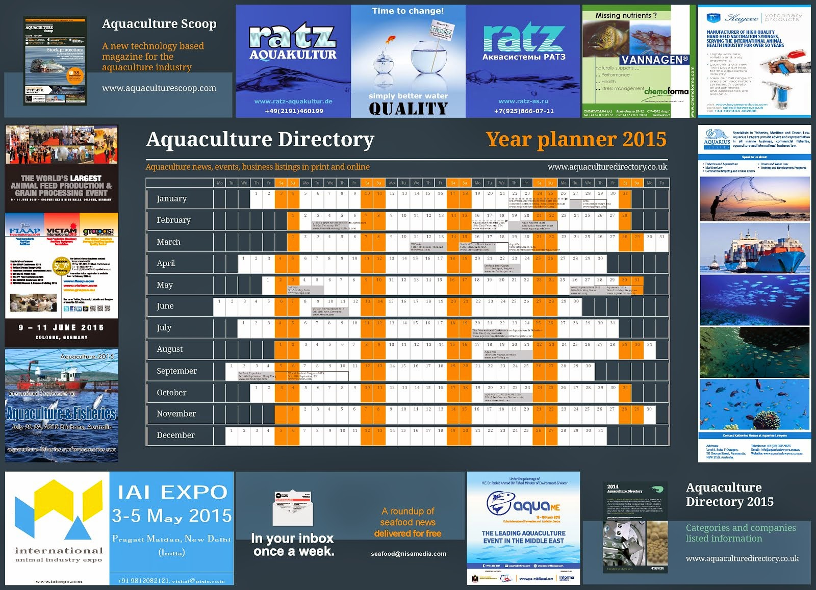 Aquaculture Directory Events 2015