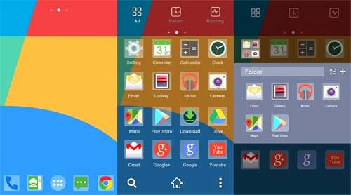 Tampilan interface Android 4.4 KitKat