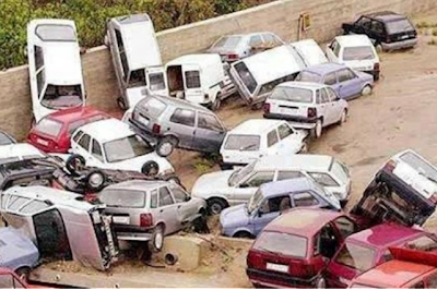 Funny picture of cars accident